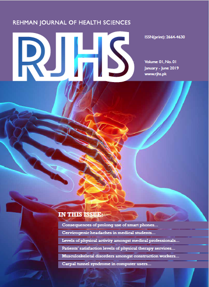 View Vol. 1 No. 1 (2019): Rehman Journal of Health Sciences