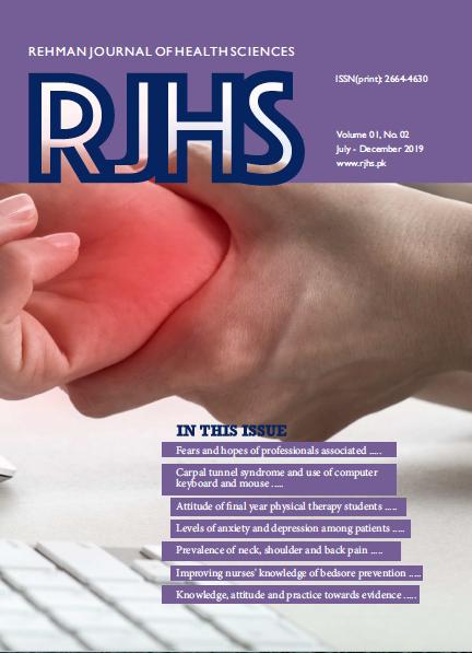 View Vol. 1 No. 2 (2019): Rehman Journal of Health Sciences