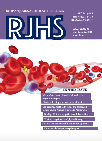 View Vol. 2 No. 2 (2020): Rehman Journal of Health Sciences